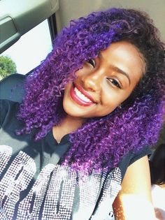 Purple justine-skye-hair