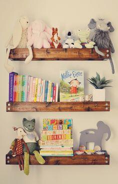 bookshelving idea - but with white shelves
