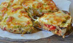 Quiche sans pâte aux légumes Weight Watchers, une recette de quiche légère facile à réaliser avec de bons légumes .