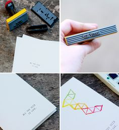 I need this custom stamp set. (Also, card making ideas w/ water colors + stamps)