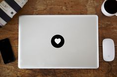 Heart MacBook Decal by vinylinfusion on Etsy