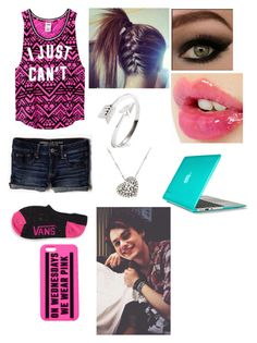 Hanging at home with Michael by foreversandalways on Polyvore featuring polyvore, fashion, style, Victoria's Secret PINK, American Eagle Outfitters, Vans, Speck, Rina Limor and Charlotte Tilbury