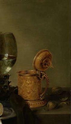 Stilleven met vergulde bierkan, Willem Claesz. Heda, 1634 - still life-Verzameld werk van Miyuki Imasato - Alle Rijksstudio's - Rijksstudio - Rijksmuseum