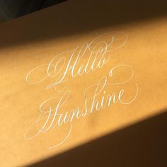 Who doesn't love sunshine in the morning ☀️ Thanks to my hubby . He got me a new table, and we put it right next to the window, so I don't have to write on the kitchen table anymore. Pretty Handwriting, Calligraphy Practice, Beautiful Lettering, Caligraphy, Brush Pen, Hand Lettering, Sunshine, Thankful, Window