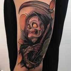 Grim Reaper by @oash_tattoo at @lacosanostratattoo in Parla Madrid. #reaper #grimreaper #death #oashtattoo #lacosanostratattoo #parla #madrid #tattoo #tattoos #tattoosnob