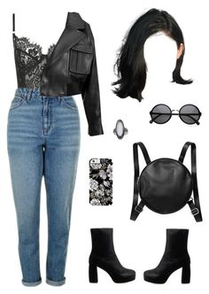 """Out in Paris"" by baaby-dooll ❤ liked on Polyvore featuring Topshop, Balmain, Miu Miu and Monki"