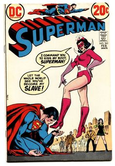 "browsethestacks:  ""Vintage Comic - Superman #261  Pencils: Nick Cardy  Inks: Nick Cardy  DC (Feb1973)  """