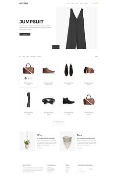Outside - Minimalist eCommerce  Shopify Theme Big Screenshot
