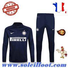 Magasin Survette Football Training Inter Milan Noir 2016-17 Moins Cher