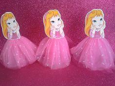 Enfeites de mesa Princesas baby 20cm
