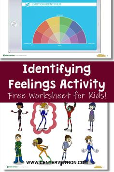 Looking for a way to help your students identify their emotions and feelings? This free worksheet printable will help your students identify emotions like a superhero! Based off of mood rings, use the color emotion identifier to color the appropriate characters. Teach your kids about emotions. Great for elementary students. Helpful for school administrators, educators, and school counselors. Social Emotional Activities, Emotions Activities, Activities For Kids, Free Worksheets For Kids, Colors And Emotions, Emotional Regulation, Activity Board, School Counselor, Mood Rings