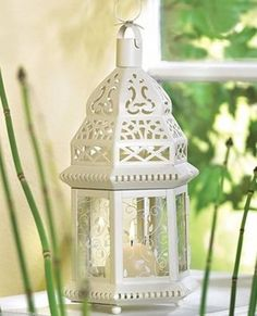 16 Wedding Moroccan White Candle Lantern by VBHomeBusiness on Etsy