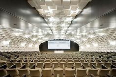architectural acoustic panels in school auditorium