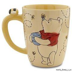 New Disney Store Winnie the Pooh Yellow Bees Coffee Tea Cup Mug | eBay