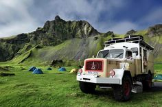 Our Magirus Deutz Offroad Truck - a good friend for four weeks in Iceland. The location of this photo are the Vestmannaeyjar (Westman Islands), an archipelago off the southcoast of Iceland. Expedition Trailer, Expedition Vehicle, Offroad, Iceland Island, Classic Tractor, Bug Out Vehicle, Off Road Camper, Top Tents, Off Road Adventure