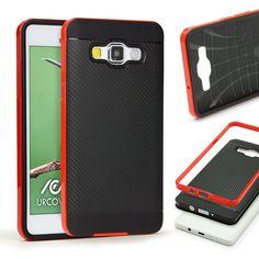 Urcover® Samsung Galaxy S7 Edge Hülle mit [DUAL LAYER] Hybrid Case Handyhülle [ROT] TPU PC Cover Case Etui Schutzhülle Handyschutz