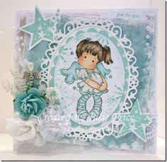 Dancing Tilda with stars from Magnolia stamps