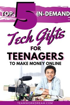 Does your teen want an independent way to start making money for themselves? In this time of technology they can. All you have to do is help them get the right gadgets with the tech gift guide for teens #giftguide #teengiftguide #giftsforteenagers #teenagetechgifts #giftideas #birthdayideas #christmasideas #howtomakemoneyonline #makemoneyathome #makemoneyonline Online Jobs For Teens, Online College, Make Money From Home, Make Money Online, How To Make Money, Driving Teen, Cool Tech Gifts, Online Checks, Making Extra Cash