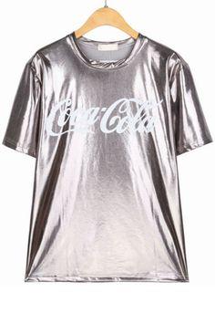 Glitter Coca Cola PU Tee