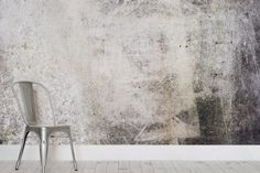 Distressed Concrete Wallpaper Textured Mural
