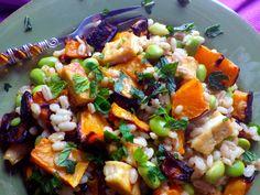 Tofu Miso Sweet Potato Edamame Salad mylittletablespoon.com