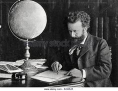 Camille Flammarion, French astronomer and author, 1890. - Stock Image
