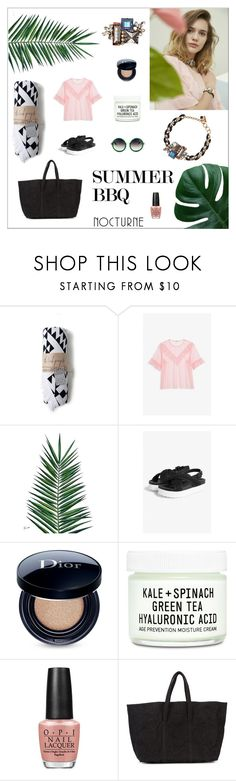 """""""SUMMER BBQ"""" by nocturne-studio ❤ liked on Polyvore featuring Monki, Nika, Christian Dior, Youth To The People, OPI and Zilla"""