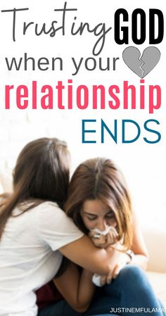 How to trust God when your relationship ends. You might be going through a heartbreak right now and wonder 'Why does God break up relationships? Ending A Relationship, Marriage Relationship, Relationship Problems, Marriage Advice, Breakup Advice, Relationship Videos, Christian Relationships, Toxic Relationships, Healthy Relationships