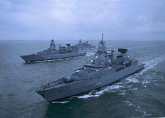 """German Navy Frigates """"Sachsen"""", """"Hamburg"""" and """"Hessen"""""""