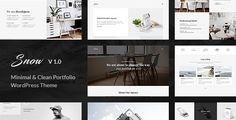 Snow   Minimal & Clean WordPress Portfolio Theme