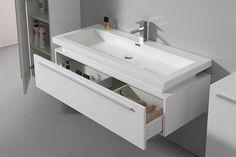 WASCHTISCH 120cm Badezimmermöbel Waschplatz Badmöbel weiß hochglanz