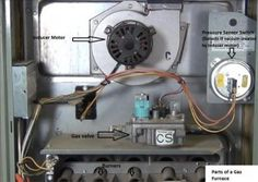 Gas Furnace Draft Inducer Motor Example HVAC how to
