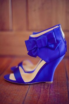 Electric blue wedges