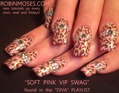 robin moses nail art | ... VIP SWAG with BLING: robin moses animal print nail art tutorial 495