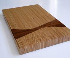 Baltic Birch Cutting Board with Walnut Inlay