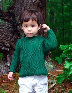 Knitty: Fall 2006 - Sherwood boy's sweater knitting pattern.  I am definitely making this for my son.  I am in love with the cable pattern.