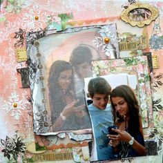 Look at that scrapbook page by Agnieszka Bellaidea BoBunny featuring the Soiree collection and the new Transfer Solution! #BoBunny @bellaideascrap