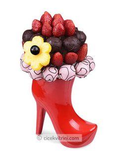 Kırmızı Pabuç Meyve Sepeti çiçek http://www.cicekvitrini.com/cicekler/avcilar-cicek-siparisi