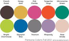 Pantone's Fall 2012 Color Forecast