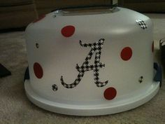 Alabama Roll Tide Cake Carrier would be cute for a HOGS idea too! :) But not Alabama, Steeler's all the way!!!