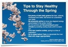 Tips to Stay Healthy Through the Spring