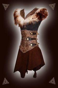Galerien - Runa Rian - Make-up ideen Viking Dress, Viking Costume, Larp Costumes, Fancy Gowns, Medieval Clothing, Halloween Disfraces, Mode Inspiration, Costume Design, Vintage Outfits