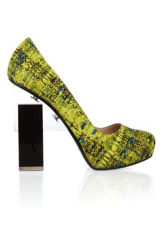 Nicholas Kirkwood | for Erdem Geometric-heeled printed silk-covered leather pumps | NET-A-PORTER.COM