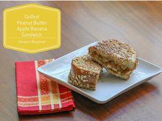 Grilled Peanut Butter Apple Banana Sandwich