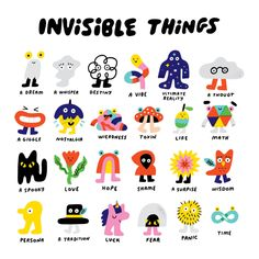 Invisible Things Illustration by Andy J Pizza Illustration Inspiration, Art And Illustration, Doodle Illustrations, Posca Art, Arte Sketchbook, Grafik Design, Wall Collage, Cute Art, Art Inspo