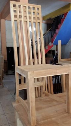 Wooden Dining Table Designs, Wooden Sofa Designs, Wooden Dining Chairs, Wooden Chair Plans, Chair Design Wooden, Patio Chair Cushions, Ideas, Dining Chairs, Woodworking Projects