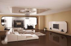 beige designs tapete braun beige akzent wand wohnzimmer for ...
