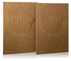 Reverence Collection / Kraft Reply Cards / Gold Foil Stamp