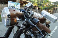 CB 400 Cafe Racer by Garage BR 440 Cor Marrom com faixa