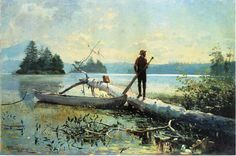 Winslow Homer >> Oil On Canvas >> The Trapper, Adirondacks